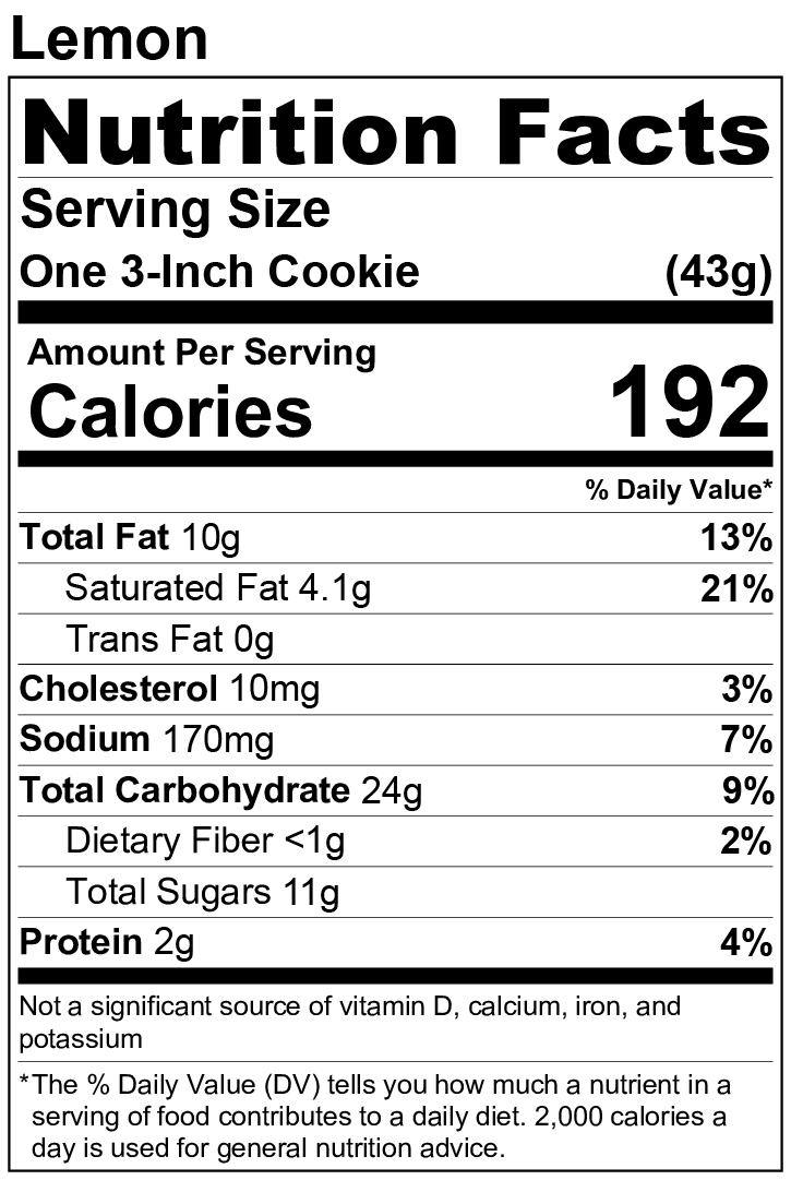 Flavors Nutrition Facts